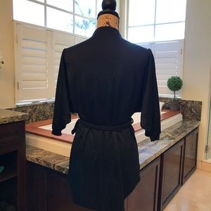 Tops - Vintage Black Tunic Tie Waist Top